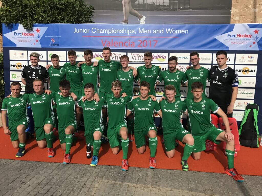 Irish U21 Hockey Team Sponsored by SoftCo